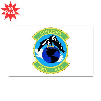 HHS464 - M01 - 01 - SSI - Heavy Helicopter Squadron 464 Sticker (Rectangle 10 pk)