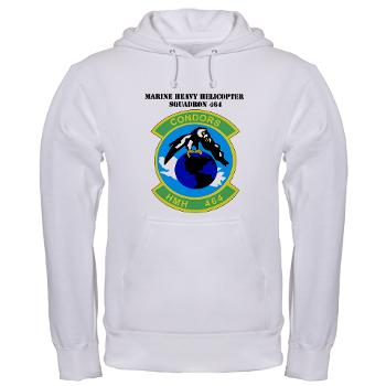 HHS464 - A01 - 03 - SSI - Heavy Helicopter Squadron 464 with Text Hooded Sweatshirt