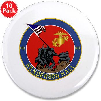 "HH - M01 - 01 - Henderson Hall - 3.5"" Button (10 pack)"