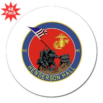 "HH - M01 - 01 - Henderson Hall - 3"" Lapel Sticker (48 pk)"