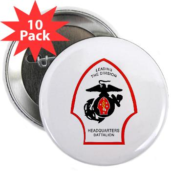 "HQB2MD - M01 - 01 - HQ Battalion - 2nd Marine Division - 2.25"" Button (10 pack)"