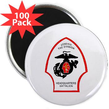 "HQB2MD - M01 - 01 - HQ Battalion - 2nd Marine Division - 2.25"" Magnet (100 pack)"
