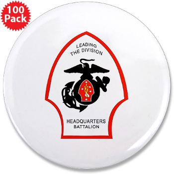 "HQB2MD - M01 - 01 - HQ Battalion - 2nd Marine Division - 3.5"" Button (100 pack)"