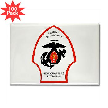 HQB2MD - M01 - 01 - HQ Battalion - 2nd Marine Division - Rectangle Magnet (100 pack)