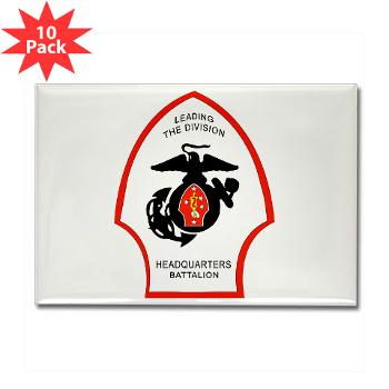 HQB2MD - M01 - 01 - HQ Battalion - 2nd Marine Division - Rectangle Magnet (10 pack)