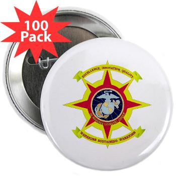 "HQBN2MLG - M01 - 01 - HQ Battalion - 2nd Marine Logistics Group - 2.25"" Button (100 pack)"