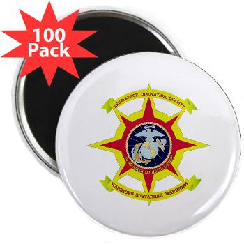 "HQBN2MLG - M01 - 01 - HQ Battalion - 2nd Marine Logistics Group - 2.25"" Magnet (100 pack)"