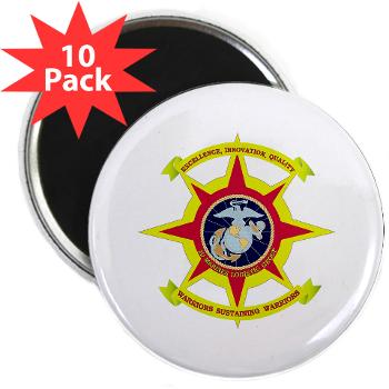 "HQBN2MLG - M01 - 01 - HQ Battalion - 2nd Marine Logistics Group - 2.25"" Magnet (10 pack)"