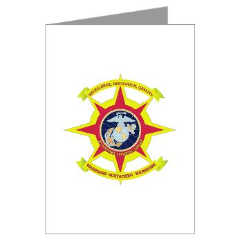 HQBN2MLG - M01 - 02 - HQ Battalion - 2nd Marine Logistics Group - Greeting Cards (Pk of 10)