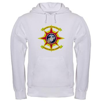 HQBN2MLG - A01 - 03 - HQ Battalion - 2nd Marine Logistics Group - Hooded Sweatshirt
