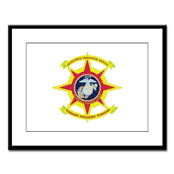 HQBN2MLG - M01 - 02 - HQ Battalion - 2nd Marine Logistics Group - Large Framed Print