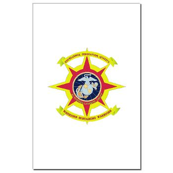 HQBN2MLG - M01 - 02 - HQ Battalion - 2nd Marine Logistics Group - Mini Poster Print