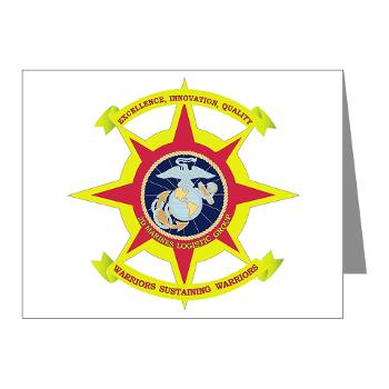 HQBN2MLG - M01 - 02 - HQ Battalion - 2nd Marine Logistics Group - Note Cards (Pk of 20)