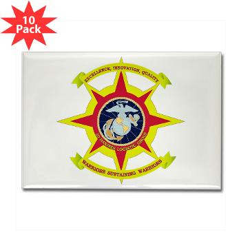 HQBN2MLG - M01 - 01 - HQ Battalion - 2nd Marine Logistics Group - Rectangle Magnet (10 pack)
