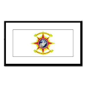HQBN2MLG - M01 - 02 - HQ Battalion - 2nd Marine Logistics Group - Small Framed Print