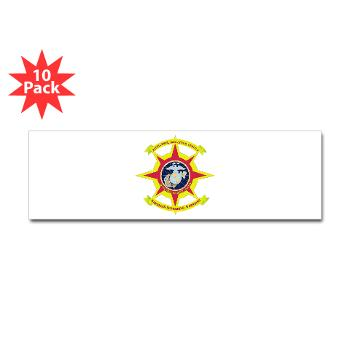 HQBN2MLG - M01 - 01 - HQ Battalion - 2nd Marine Logistics Group - Sticker (Bumper 10 pk)