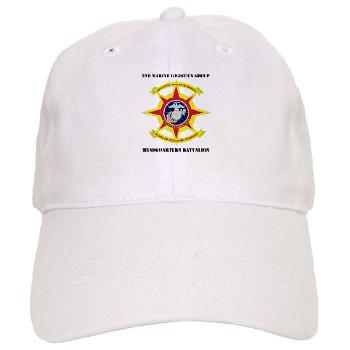 HQBN2MLG - A01 - 01 - HQ Battalion - 2nd Marine Logistics Group with Text - Cap