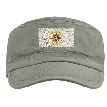 HQBN2MLG - A01 - 01 - HQ Battalion - 2nd Marine Logistics Group with Text - Military Cap