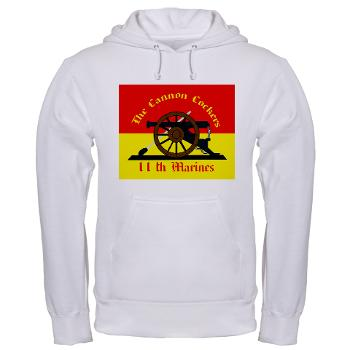 HQC11M - A01 - 03 - HQ Coy - 11th Marines Hooded Sweatshirt