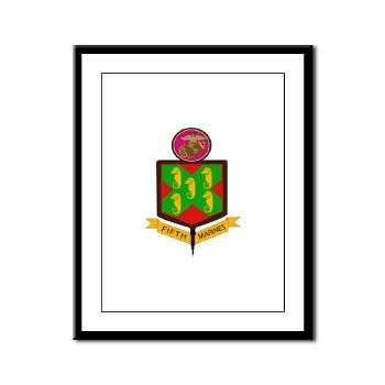 HQC5M - M01 - 02 - HQ Coy - 5th Marines Framed Panel Print