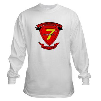 HQC7M - A01 - 03 - HQ Coy - 7th Marines Long Sleeve T-Shirt