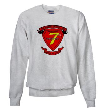 HQC7M - A01 - 03 - HQ Coy - 7th Marines Sweatshirt