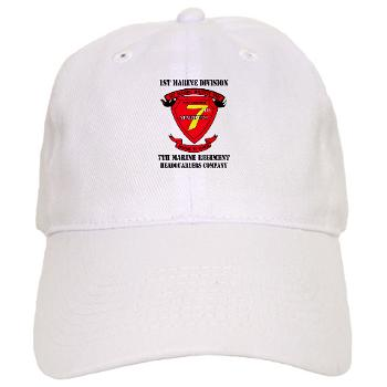 HQC7M - A01 - 01 - HQ Coy - 7th Marines with Text Cap