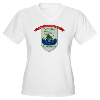 HSC - A01 - 01 - Headquarters and Services Company - Women's V-Neck T-Shirt
