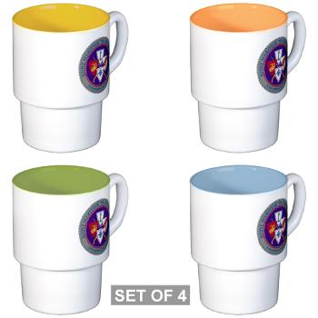 JMTC - M01 - 03 - Joint Maritime Training Center (USCG) - Stackable Mug Set (4 mugs)