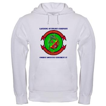 LSC - A01 - 03 - Landing support company with Text Hooded Sweatshirt