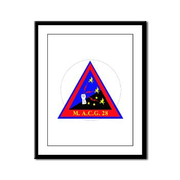 MACG28 - M01 - 02 - Marine Air Control Group 28 (MACG-28) - Framed Panel Print