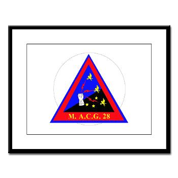 MACG28 - M01 - 02 - Marine Air Control Group 28 (MACG-28) - Large Framed Print