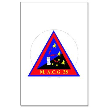 MACG28 - M01 - 02 - Marine Air Control Group 28 (MACG-28) - Mini Poster Print