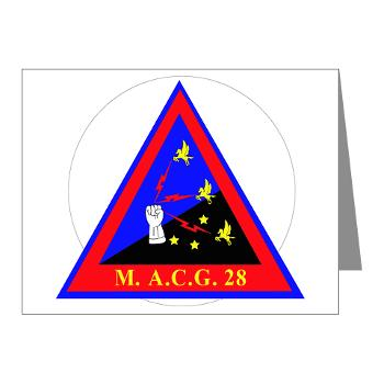 MACG28 - M01 - 02 - Marine Air Control Group 28 (MACG-28) - Note Cards (Pk of 20)