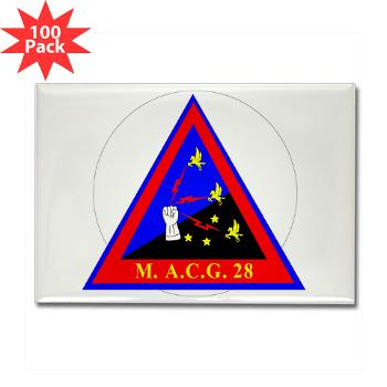 MACG28 - M01 - 01 - Marine Air Control Group 28 (MACG-28) - Rectangle Magnet (100 pack)
