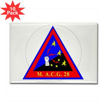 MACG28 - M01 - 01 - Marine Air Control Group 28 (MACG-28) - Rectangle Magnet (10 pack)