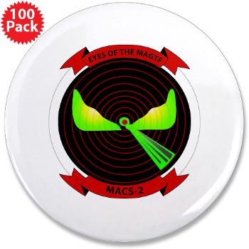 "MACS2 - M01 - 01 - Marine Air Control Squadron 2 (MACS-2) 3.5"" Button (100 pack)"
