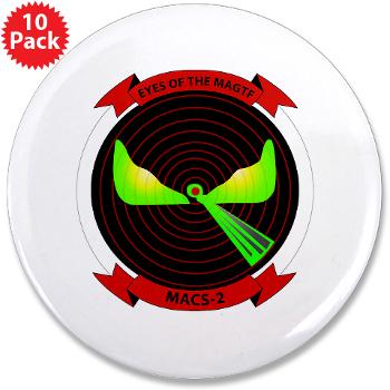 "MACS2 - M01 - 01 - Marine Air Control Squadron 2 (MACS-2) 3.5"" Button (10 pack)"