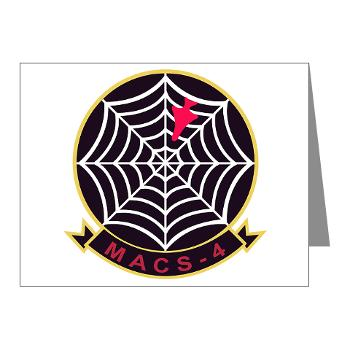 MACS4 - A01 - 01 - Marine Air Control Squadron 4 - Note Cards (Pk of 20)