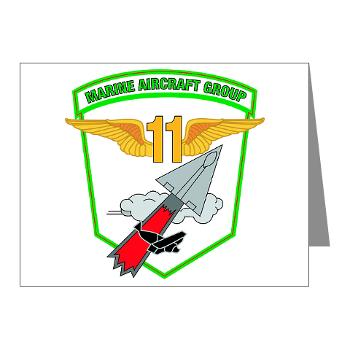 MAG11 - M01 - 02 - Marine Aircraft Group 11 - Note Cards (Pk of 20)