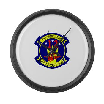 MAG12 - M01 - 03 - Marine Aircraft Group 12 Large Wall Clock