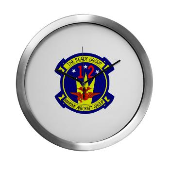 MAG12 - M01 - 03 - Marine Aircraft Group 12 Modern Wall Clock