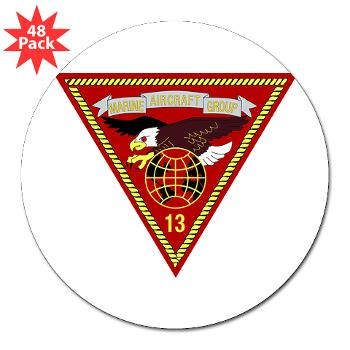 "MAG13 - M01 - 01 - Marine Aircraft Group 13 3"" Lapel Sticker (48 pk)"