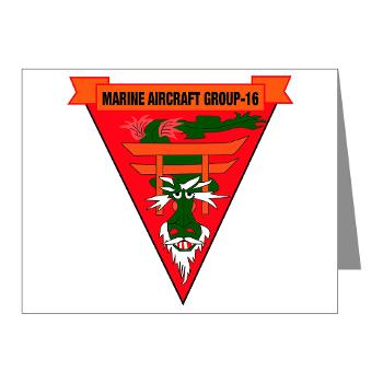MAG16 - M01 - 02 - Marine Aircraft Group 16 Note Cards (Pk of 20)