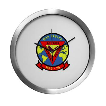 MAG29 - M01 - 03 - Marine Aircraft Group 29 (MAG-29) Modern Wall Clock