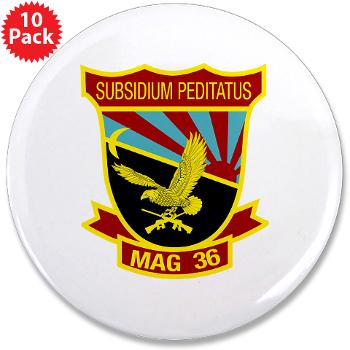 "MAG36 - M01 - 01 - Marine Aircraft Group 36 - 3.5"" Button (10 pack)"