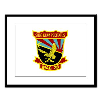 MAG36 - M01 - 02 - Marine Aircraft Group 36 - Large Framed Print