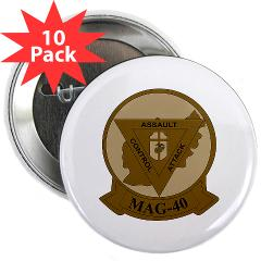 "MAG40 - M01 - 01 - Marine Aircraft Group 40 (MAG-40) 2.25"" Button (10 pack)"