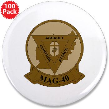 "MAG40 - M01 - 01 - Marine Aircraft Group 40 (MAG-40) 3.5"" Button (100 pack)"