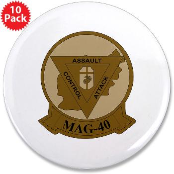 "MAG40 - M01 - 01 - Marine Aircraft Group 40 (MAG-40) 3.5"" Button (10 pack)"